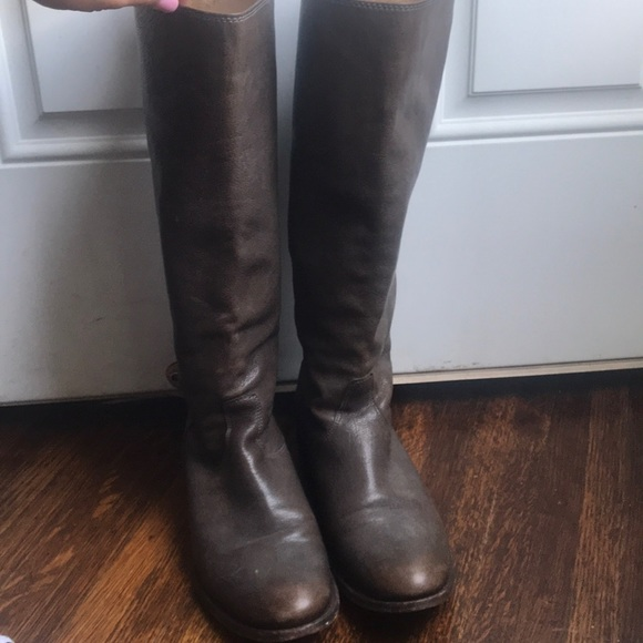 1342f209edcc Frye Shoes - Frye Melissa button back zip tall grey wmn size 9